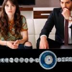 Dolunay Dizi Kıyafetleri 17. Bölüm Nazlı nazar boncuklu bileklik markası Agjewelery. Ferit Saat markası Nacar saat.
