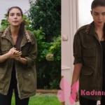 Fazilet HAnım ve Kızları Hazan Yeşil Trençkot Koton marka