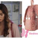 Fazilet Hanım ve kızları Ece pembe sırt çantası Pinky Lola Design marka