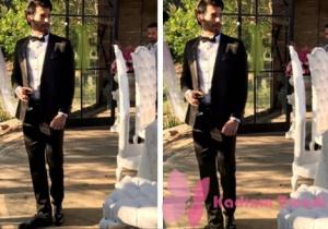 Dolunay 15. bölümde Ferit'in Nikah için giydiği Smokin Takim: DS Damat Ferit siyah rugan ayakkabi:HoticFerit Saat:Nacar Watches