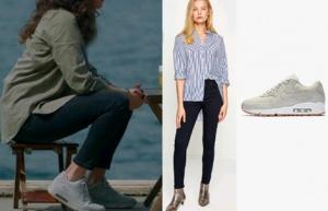 Meryem Dizisi 7. Bölüm Kıyafetleri Burcu Spor ayakkabı Nike marka Burcu pantolon Koton marka