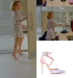 Meryem dizisi 4. bölümde Derinin beyaz elbise ile giydiği ayakkabı markası İlvi