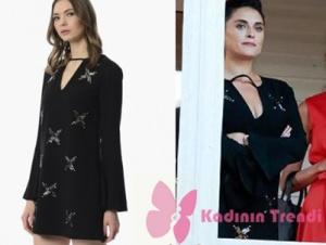 Ufak Tefek CinayetlerAslıhan Gürbüz -Merve siyah elbise Network marka