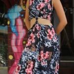 Şevkat Yerimdar dizisi Esin'in giydiği çiçek desenli uzun elbisesi Lidyana'dan
