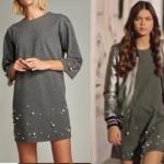 Fazilet Hanım ve Kızları Kıyafetleri 23. bölüm Ece'nin giydiği gri elbise markası Trendyol Milla
