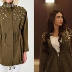 Fazilet Hanım ve Kızları İnci işlemeli haki trençkot markası Trendyol Milla