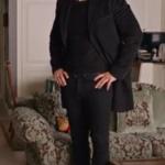 Siyah Beyaz Aşk Ferhat kıyafetleri Ferhat siyah kaban Ferhat Siyah Pantolon Ferhat siyah kazak