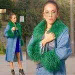Ufak Tefek Cinayetler Burcunun bebek partisinde giydiği yeşil püsküllü kot kaban markası Zara
