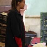 Çukur sena kırmızı kazak ve Sena siyah uzun kot ceket markası Lidyana