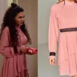 İstanbullu gelin burcu karakterinin giydiği pudra pembe elbisenin markası Trendyol Milla