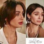 Aslı'nın taktığı altın kaplama bileklik Selin Ecer marka.