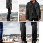 Dolunay Hakan Kurtaş Deniz kıyafetleri Deniz siyah ayakkabı Derimod Deniz pantoılon mavi Deniz kazak Mavi Deniz gri kaşe mont Cotton