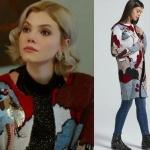 Dolunay dizi kıyafetleri 21 Defnenin giydiği renkli hırka markası ADL