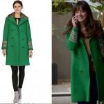 Dolunay dizisi Özge Gürel Nazlı Yeşil kaban markası NG Style