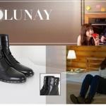 Dolunay dizisinde Nazlı'nın giydiği siyah bot İlvi marka.