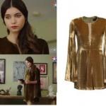 Fazilet Hanım ve Kızları son bölüm kıyafetleri Ecenin giydiği kadife elbisenin markası mybestfriend