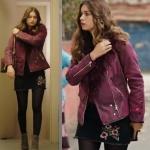 Fazilet Hanım ve Kızları dizisinde Ece'nin kombini: çiçek işlemeli bordo ceketi ve çiçek işlemeli mini siyah etek nereden?