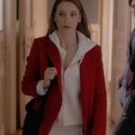 Fi-Çi-Kıyafetleri-5. Bölüm Duru Serenay Sarıkaya kırmızı kaban markası Palto-i