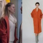 Fi Çi kıyafetleri 5. bölüm Duru kırmızı yarasa kol kabanın markası Natalie Kolyozyan