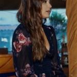 Siyah İnci 7. bölüm kıyafetleri Hazal siyah çiçek desenli elbise Forever New marka