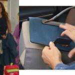 Ufak Tefek Cinayetler 7. bölüm Oyanın laciver tulum ile kombine ettiği çantanın markası Turla Oya çanta