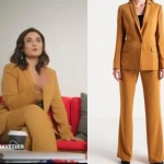Ufak Tefek Cinayetler Mervenin giydiği kiremit rengi pantolon ceket takım elbise markası Perspective