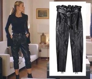 Ufak Tefek Cinayetler Pelinin deri pantolonu H6 By Hazal Ozman marka