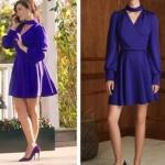 Ufak Tefek Cinayetler Son Bölüm Kıyafetleri Mervenin giydiği mavi elbisenin markası Nocturne