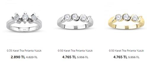 Zen Tria Yüzük fiyatları