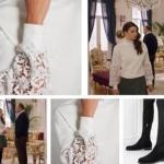 Fazilet Hanım ve Kızları son bölümde Ecenin giydiği kolları güpürlü beyaz bluz ADL Ece siyah çorap botlar İlvi marka