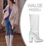 Fi 6. bölümde Serenay Sarıkaya Durunun giydiği beyaz çizmeler nereden I Love Shoes