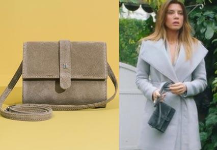 K12 Ufak Tefek Cinayetler Oyanın küçük gri kol çantasının markası Maere Design İstanbul marka