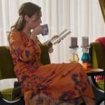 Siyah Beyaz Aşk Birce Akalay Aslı turuncu elbise Batik marka
