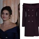 Ufak Tefek Cinayetler Merve'nin kayık yaka elbisesi My Best Friend marka.