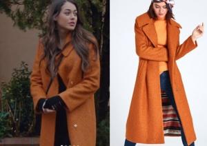 Çukur Kıyafetleri 13. Bölüm Sena Koçavalı Son bölümde giydiği turuncu kabanın markası Noi Triko