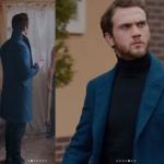 Çukur Kıyafetleri 13. Bölüm Yamaç lacivert kaban markası Pierre Cardin