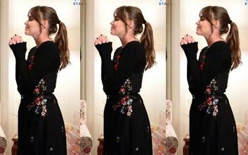 İstanbullu Gelin Kıyafetleri 35. bölüm Süreyyanın teyzesinin yüzük taktığı gün giydiği çiçek desenli elbisesi Stradivarius marka