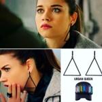 Fazilet Hanım ve Kızları ece takıları Ece siyah üçgen küpe Urban Queen marka