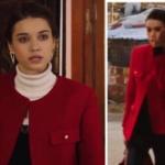 FAzilet Hanım dizisi Ece Kırmızı ceket hangi marka Roxx Caracca