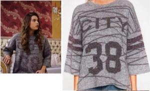 Fazilet Hanım ve Kızları Son Bölüm Dizi Kıyafetleri Ecenin geçen hafta giydiği önü rakamlı kazağı Koton marka