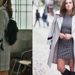 Fazilet Hanım ve Kızları hazan Kıyafetleri Hazan gri kareli kaban markası Trendyol Milla.