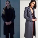 Fi Kıyafetleri 2. Sezon 8. Bölüm Duru kıyafetleri Duru Siyah palto markası Rue