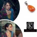 Gülizar'ın taktığı kahve rengi taşlı kolye Komnata Jewelry marka.