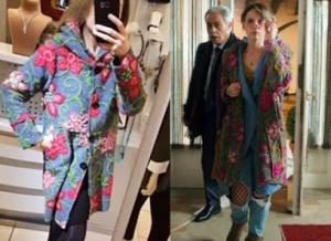 Gülizar dizi kıyafetleri Gülizarın giydiği çiçek işlemeli keçe kabanın markası Cadde 84Boutique