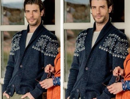 Gülizar kıyafetleri 2. bölüm Murat'ın giydiği desenli lacivert hırkanın markası Brango