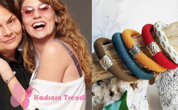 Farah Zeynep Abdullah'ın canlandırdığı Gülizar karakterinin Vinage & Bohem karışımı giyim tarzına uyum sağlayan bilekliği Fabricca Design marka.