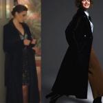 Ufak Tefek Cinayetler Merve'nin 14. bölümde giydiği siyah kaban Marella marka