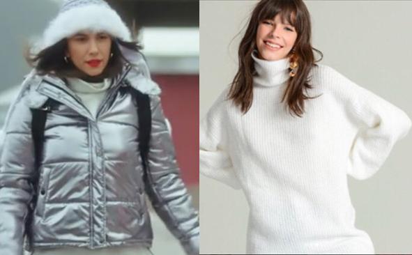 Ufak Tefek Cinayetler Burcu Kıyafetleri Burcunun uludağda giydiği beyaz kazak Fashion By Agenda