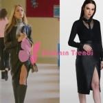 Ufak Tefek Cinayetler son bölüm Pelin Kıyafetleri Pelin'in giydiği siyah deri etek Tara Coşkun Tuncel marka