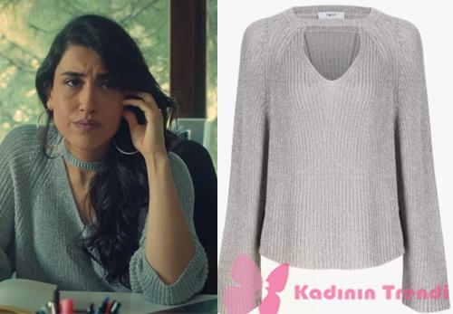 İstanbullu Gelin 40 bölümde Dilara'nın giydiği Şerit yaka gri kazak Twist marka nereden